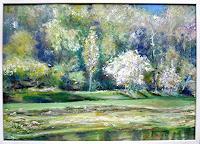 Renee-Koenig-Landschaft-Fruehling-Landschaft-Ebene-Moderne-Impressionismus-Postimpressionismus