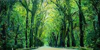 Renee-Koenig-Landschaft-Fruehling-Verkehr-Auto-Moderne-Impressionismus-Postimpressionismus