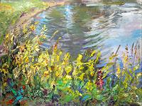Renee-Koenig-Landschaft-Sommer-Natur-Wasser-Moderne-Impressionismus-Postimpressionismus