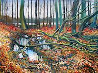 Renee-Koenig-Landschaft-Ebene-Natur-Wald-Moderne-Impressionismus-Postimpressionismus