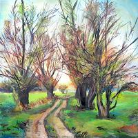 Renee-Koenig-Landschaft-Ebene-Pflanzen-Baeume-Moderne-Impressionismus-Postimpressionismus