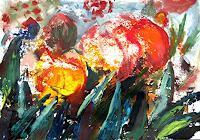 Renee-Koenig-Pflanzen-Blumen-Abstraktes-Moderne-Expressionismus-Neo-Expressionismus