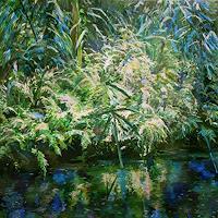 Renee-Koenig-Landschaft-Sommer-Natur-Wasser-Neuzeit-Realismus