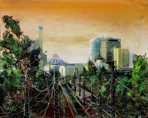 Renée König, Berlin, Gleisdreieck, Verkehr: Bahn, Architektur, expressiver Realismus