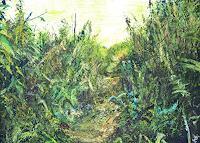 Renee-Koenig-Landschaft-Sommer-Diverse-Pflanzen-Moderne-Impressionismus-Neo-Impressionismus