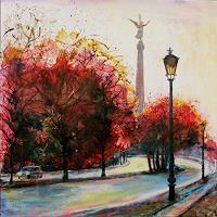 Renee-Koenig-Landschaft-Herbst-Wohnen-Stadt-Moderne-expressiver-Realismus