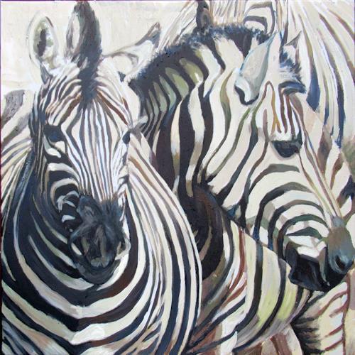 Renée König, Zebras, Tiere: Land, Situationen, Gegenwartskunst, Expressionismus