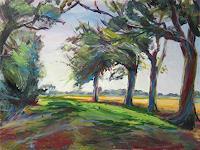 Renee-Koenig-Landschaft-Sommer-Pflanzen-Baeume-Moderne-Impressionismus-Postimpressionismus