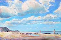 Renee-Koenig-Landschaft-Sommer-Landschaft-Strand-Neuzeit-Realismus