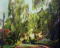 Renee-Koenig-Landschaft-Sommer-Wohnen-Dorf-Moderne-Impressionismus-Postimpressionismus