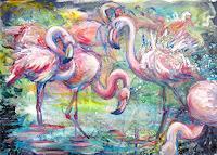 Renee-Koenig-Tiere-Wasser-Natur-Wald-Moderne-Impressionismus-Postimpressionismus