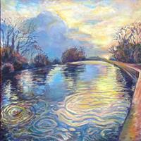 Renee-Koenig-Landschaft-See-Meer-Natur-Wasser-Neuzeit-Realismus