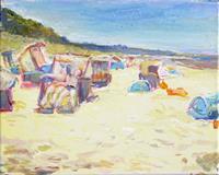 Renee-Koenig-Freizeit-Landschaft-Strand-Moderne-Impressionismus-Postimpressionismus