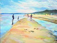 Renee-Koenig-Landschaft-Strand-Landschaft-Sommer-Moderne-Impressionismus-Postimpressionismus