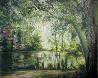 Renee-Koenig-Landschaft-Sommer-Pflanzen-Baeume-Moderne-expressiver-Realismus