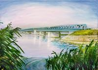 Renee-Koenig-Landschaft-See-Meer-Diverse-Bauten-Moderne-Impressionismus-Postimpressionismus