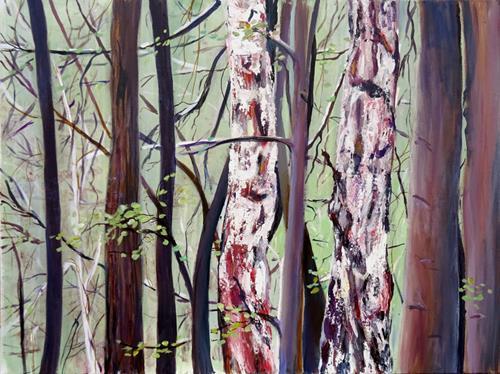 Renée König, Ein Stückchen Wald, Landschaft: Frühling, Natur: Wald, Realismus