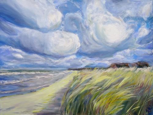 Renée König, Salz in der Luft, Landschaft: Strand, Landschaft: Sommer, Realismus, Expressionismus