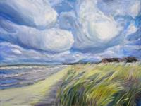 Renee-Koenig-Landschaft-Strand-Landschaft-Sommer-Neuzeit-Realismus