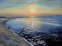 Renee-Koenig-Landschaft-Strand-Romantik-Sonnenuntergang-Moderne-Fotorealismus