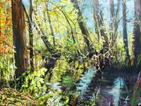 Renee-Koenig-Landschaft-Fruehling-Pflanzen-Blumen-Moderne-Impressionismus-Postimpressionismus