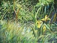 Renee-Koenig-Landschaft-Sommer-Pflanzen-Blumen-Moderne-Impressionismus-Postimpressionismus
