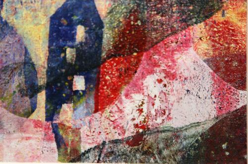 Sylvie Gasser, Sommernachtstraum, Landschaft, Landschaft: Sommer, Abstrakte Kunst, Abstrakter Expressionismus