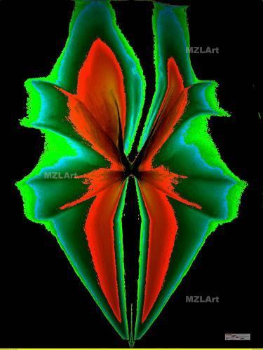 MartinusLinzer, Lilium Lunaii, Pflanzen: Blumen, Fantasie, Gegenwartskunst