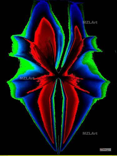 MartinusLinzer, Lilium Lunaii Glauca, Pflanzen: Blumen, Fantasie, Gegenwartskunst