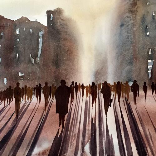Andreas Gortan, 53 guys, Diverse Menschen, Gegenwartskunst, Abstrakter Expressionismus