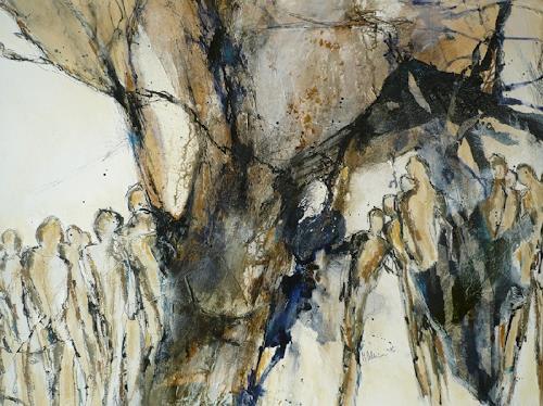 Monika Ostheimer, People, Menschen: Gruppe, Abstraktes, Abstrakte Kunst
