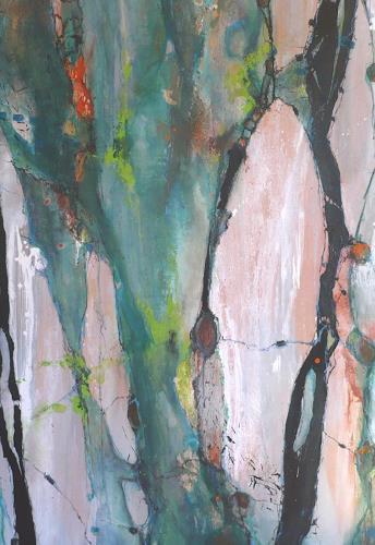 versunken im gr n von monika ostheimer abstraktes landschaft fr hling malerei. Black Bedroom Furniture Sets. Home Design Ideas
