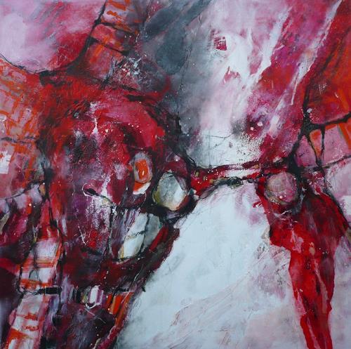 Monika Ostheimer, You`ve got the power!, Abstraktes, Gefühle: Freude, Abstrakte Kunst