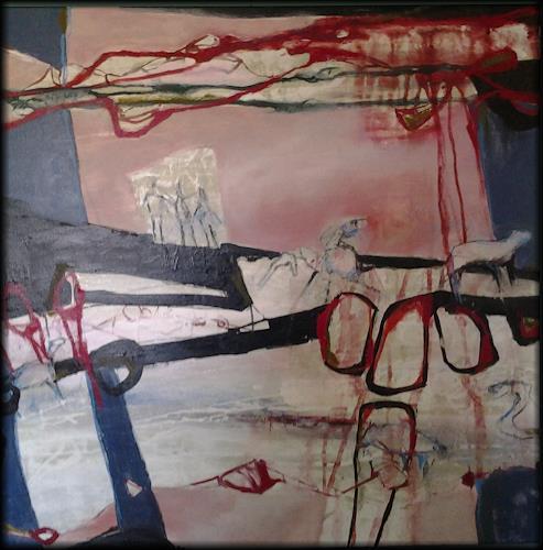 Monika Ostheimer, Auf der Suche, Menschen: Gruppe, Fantasie, Gegenwartskunst, Abstrakter Expressionismus