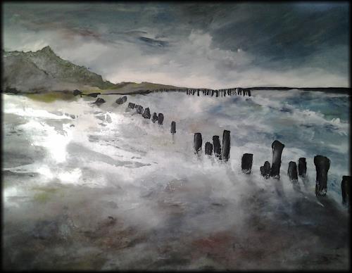 Monika Ostheimer, Meeresrauschen, Natur, Gegenwartskunst, Expressionismus