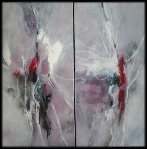 Monika Ostheimer, Leichtigkeit des Seins, Abstraktes, Fantasie, Abstrakte Kunst, Expressionismus