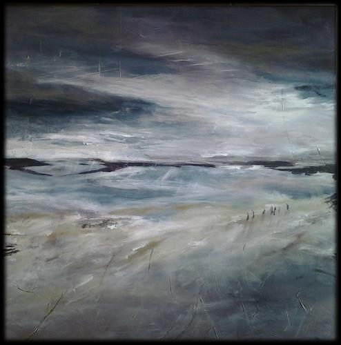 Monika Ostheimer, Der Abend naht..., Landschaft, Natur, Land-Art, Expressionismus
