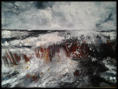 Monika Ostheimer, Lichtspiel, Landschaft, Dekoratives, Gegenwartskunst, Abstrakter Expressionismus