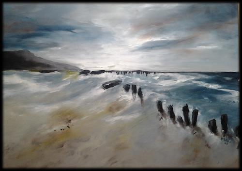 Monika Ostheimer, Meeresrauschen II, Landschaft, Natur, Gegenwartskunst, Expressionismus