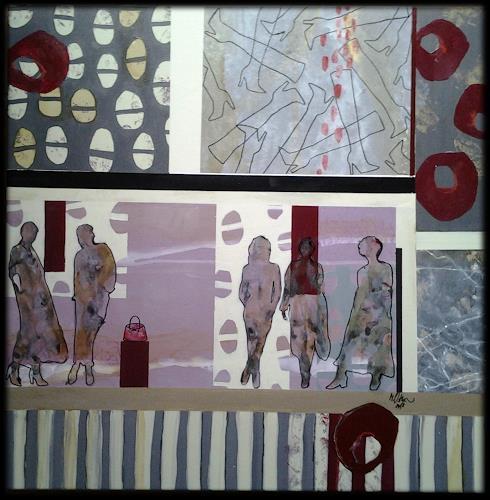 Monika Ostheimer, Fashion show, Menschen, Menschen: Gruppe, Abstrakte Kunst, Abstrakter Expressionismus