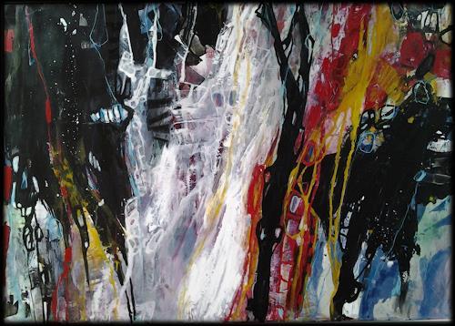 Monika Ostheimer, Coloured music III, Abstraktes, Gefühle, Abstrakte Kunst