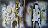 Monika-Ostheimer-Menschen-Abstraktes-Moderne-Abstrakte-Kunst
