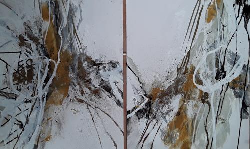 Monika Ostheimer, Goldschimmer, Abstraktes, Fantasie, Gegenwartskunst