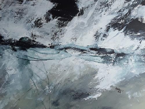 Monika Ostheimer, Rolling thunder, Landschaft, Abstraktes, Gegenwartskunst, Abstrakter Expressionismus