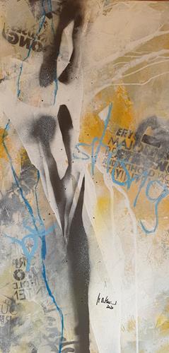 Monika Ostheimer, Be strong!, Abstraktes, Menschen, Abstrakte Kunst, Abstrakter Expressionismus
