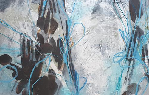 Monika Ostheimer, In die Tiefe, Abstraktes, Fantasie, Abstrakte Kunst