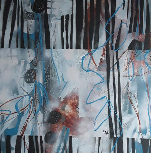 Monika Ostheimer, Stripes, Abstraktes, Fantasie, Abstrakte Kunst, Expressionismus