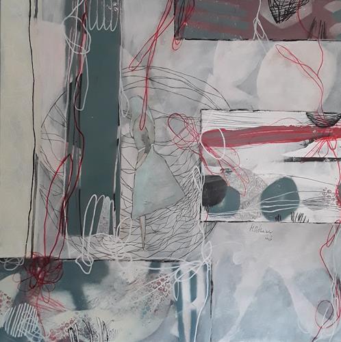 Monika Ostheimer, Formensprache II, Abstraktes, Menschen: Frau, Gegenwartskunst, Abstrakter Expressionismus