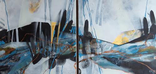 Monika Ostheimer, Hidden places, Landschaft, Abstraktes, Abstrakte Kunst