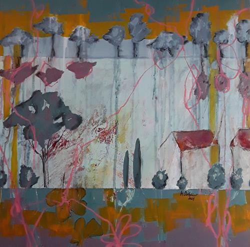Monika Ostheimer, Home is where the heart is, Landschaft, Abstraktes, Abstrakte Kunst, Expressionismus